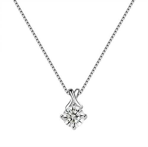 S925 Sterling Silver Zircon Pendant Female Necklace Pendant Jewelry Fashion Korean-Style Necklace Mla1828