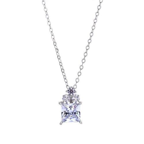 Korean  S925 Pure Silver Jewelry Classic Zircon Pendant Simple Short Micro-set Diamond Collarbone Chain Women's Necklace MlA1811