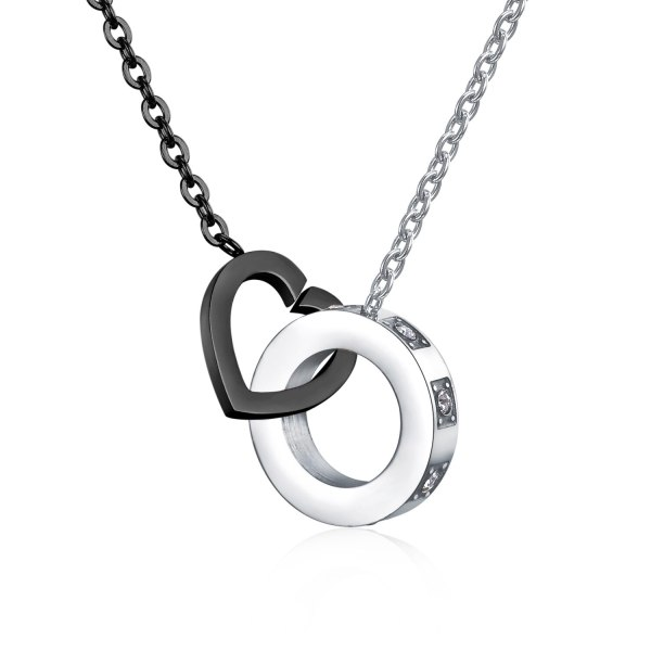 Japan and Korea Sweet Love Necklace Simple Personality Asymmetric Necklace Titanium Steel Lady Necklace Send Girlfriend Gb1445