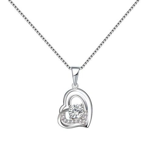 S925 Sterling Silver 2020 New Zircon Lovely Pendant Korean Popular Necklace Mla1978