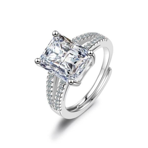 Ring Zircon Wedding Diamond Ring European and American Fashion Jewelry XzJZ351