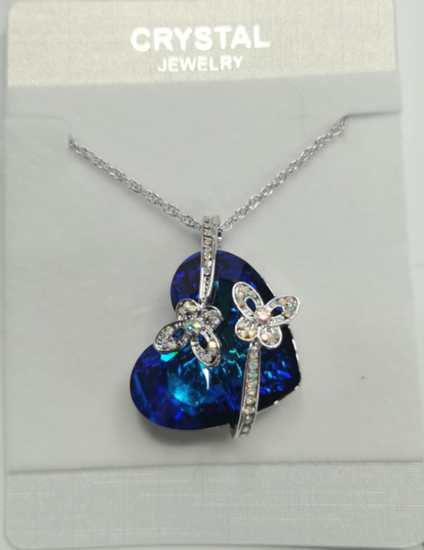 moon heart necklace  11112