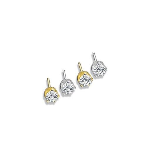 S925 Sterling Silver Crown Earrings Japan and South Korea Six Prong Earrings MlE2272