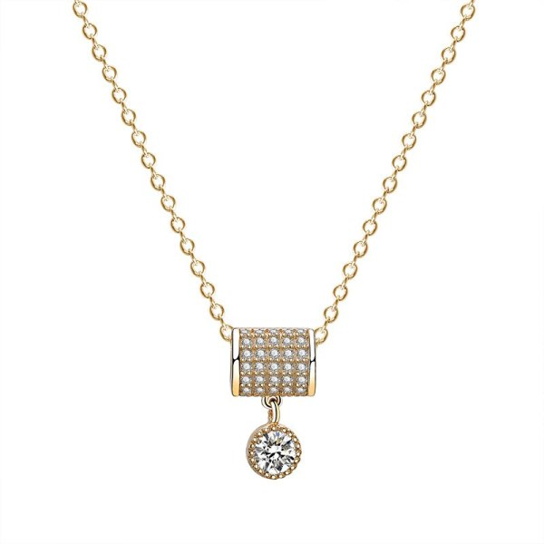 S925 Sterling Silver Necklace Female Ins Fashion Creative Set with Zircon Clavicle Chain MlA1875