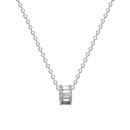 S925 Sterling Silver Necklace Female Korean Version Simple and Versatile Electroplating Personality Geometric Necklace MlA1985