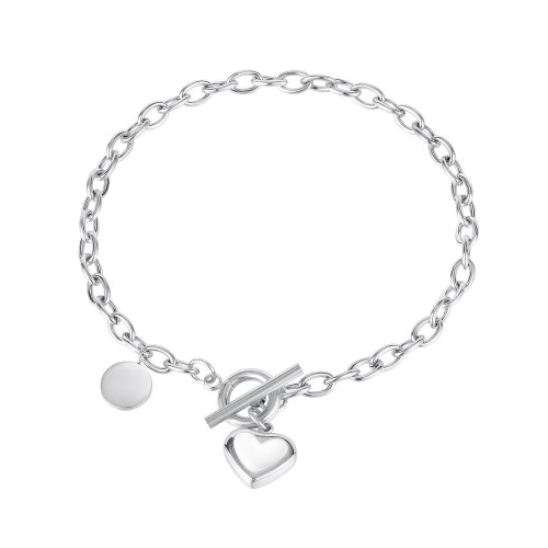 Korea Simple Fashion Love Shell Bracelet Niche Heart OT Buckle Stainless Steel Jewelry Gb1140