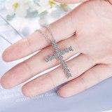 Heart-shaped Zircon Cross Pendant Clavicle Chain Personality Full Diamond Design Light Luxury XzDZ537