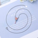 Strawberry Crystal Cat Pendant Cute and Sweet Short Clavicle Chain Ladies Niche Epoxy Jewelry XzDZ540