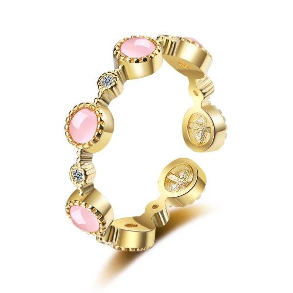 Cat's Eye Stone Ring, Women's Fashion Diamond Tail Ring, Simple Ring Xzjz347