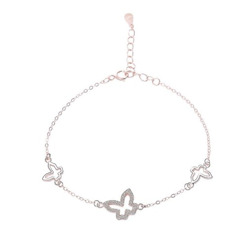 S925 Sterling Silver Jewelry Female Korean Version All-match Single-layer Jewelry Irregular Geometric Bracelet MlL052L
