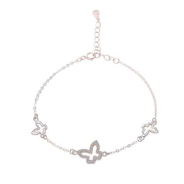 S925 Sterling Silver Jewelry Female Korean Version All-match Single-layer Jewelry Irregular Geometric Bracelet MlL052L