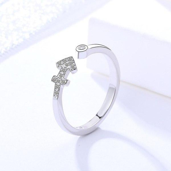S925 Sterling Silver 12 Constellations Ring Women's Fashion Korean Creative Ring Mlk239