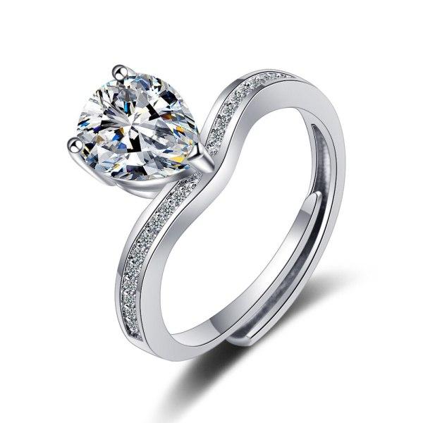 Korean flash zirconium diamond ring vivid fashion temperament ring women's ring xzjz365
