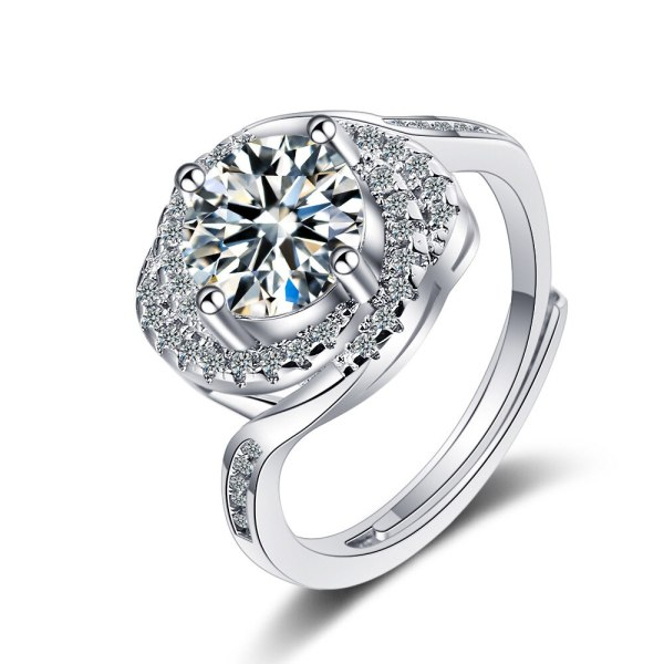 Flash Zirconium Diamond Ring Living Fashion Temperament Ring Female Ring XzJZ361
