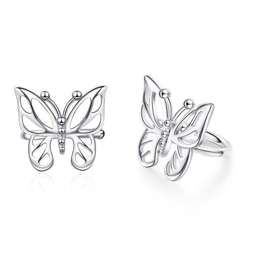 Butterfly Ear Clip Without Pierced Ears Female Korean Style Fashion Ear Clip Temperament Sweet Girl Ear Jewelry XzEH605