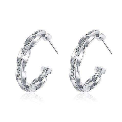 Gold Earrings Temperament Earrings  with Zirconium Diamond Chain Ear Rings XzED912