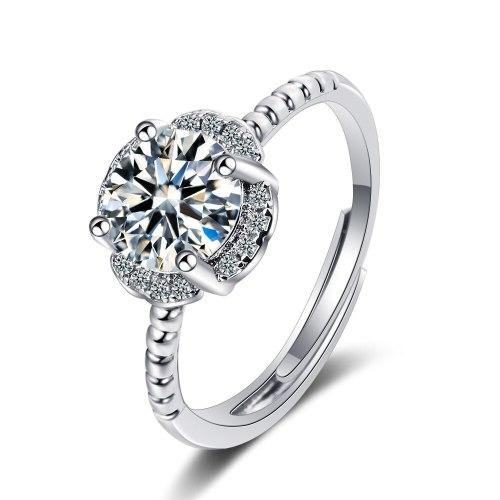 Korean Style Wedding Flash Zirconium Diamond Ring Lively Fashion Temperament Ring Female Ring XzJZ359