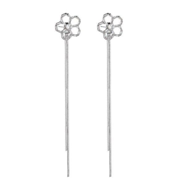 S925 Silver Needle Geometric Women's Little Daisy Little Fresh Earrings White Stud Earrings QxWE1157