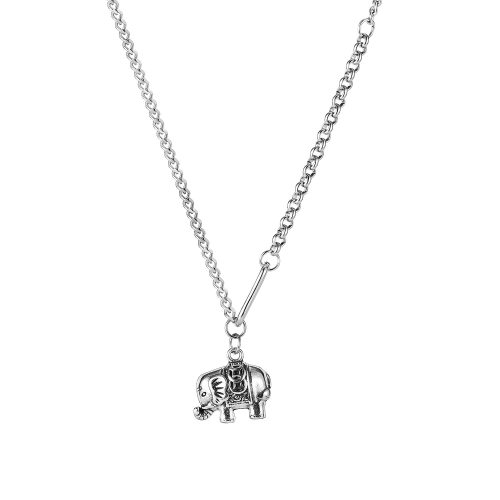 Japan and South Korea Ins Personalized Splicing Chain Simple Versatile Little Elephant Alloy Pendant Necklace Gb1918