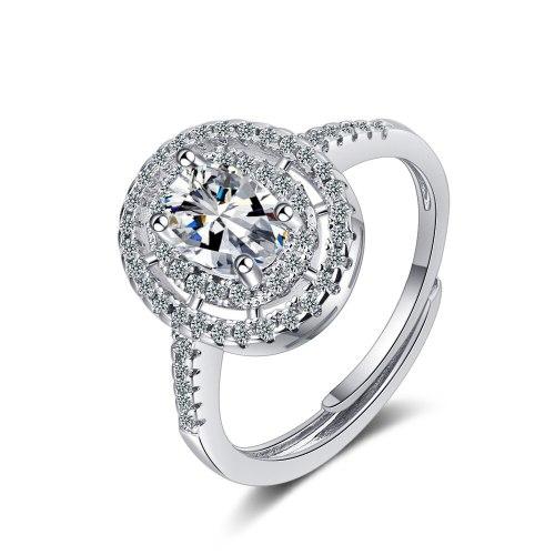 Korean Version of Zirconium Diamond Ring Lively Fashion Temperament Ring Female Ring XzJZ354