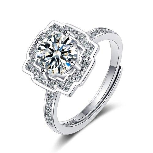 Flash Zirconium Diamond Ring Live Mouth Design Fashion Temperament Ring Female Ring Bracelet XzJZ356
