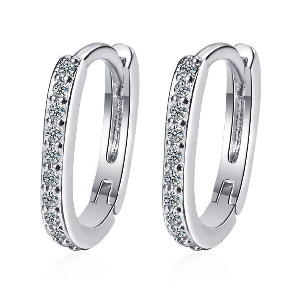 Ear Buckle Female Korean Fashion Geometric Oval Ear Buckle Simple Temperament Stud Earrings Jewelry XzEH594
