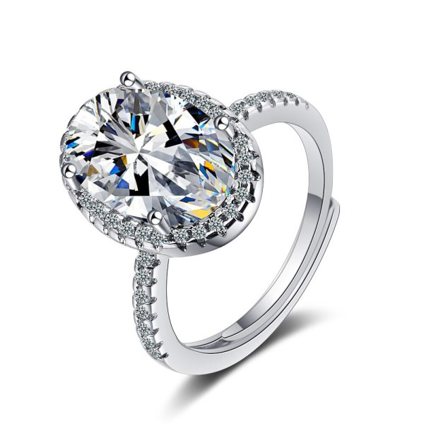 Flash Zirconium Diamond Ring Lively Fashion Temperament Ring Female Ring Bracelet XzJZ363