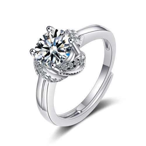 Korean Style Ins Wind Ring Women's Zirconium Diamond Wide Face Ring Bracelet XzJZ366