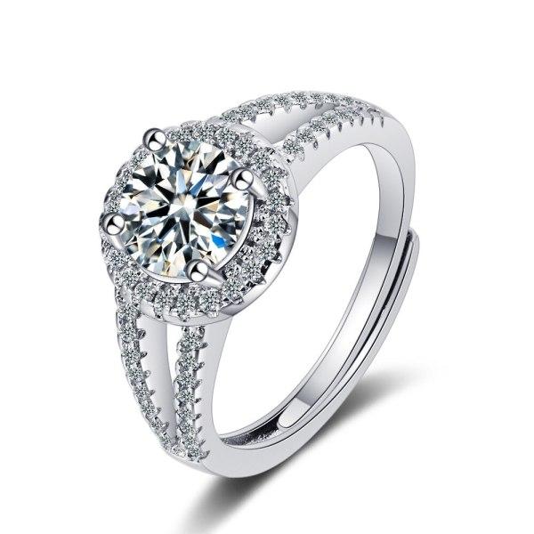 Korean Style Ins Wind Ring Women's Zirconium Diamond Wide Face Ring Bracelet XzJZ355