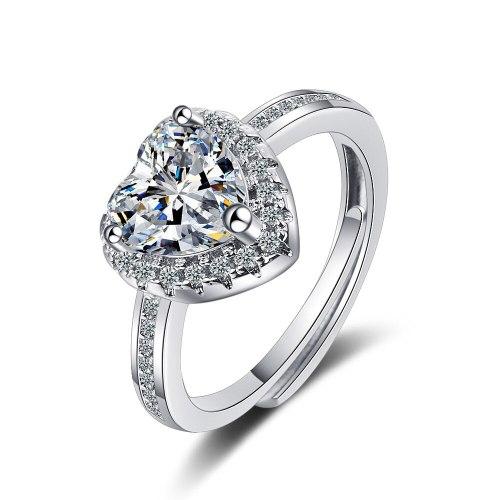 Korean Wedding Ring Female Square Zirconium Diamond Wide Ring Jewelry XzJZ362