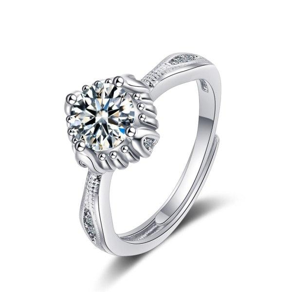 Korean Version of Ins Ring Women's Zirconium Diamond Wide Face Women's Ring Bracelet XzJZ370