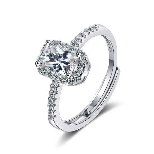 Ring Women's Zirconium Diamond Wide Face Ring Bracelet XzJZ372