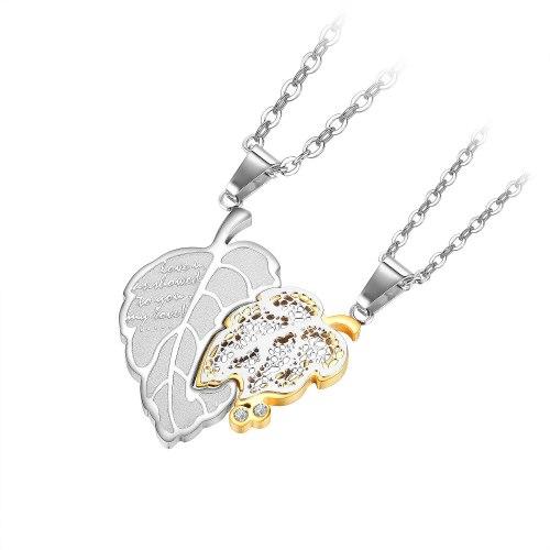 2021 New Japanese and Korean Online Celebrity Titanium Steel Pendant Simple Elegant Stainless Steel Couple Necklace Gb1934