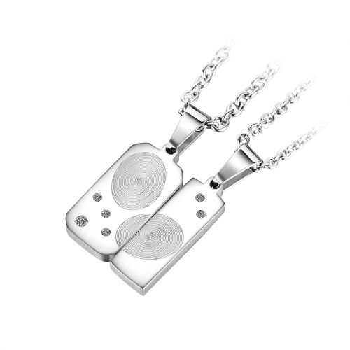 2021 New Japanese and Korean Niche Design Classic Light Luxury Versatile Stainless Steel Couple Necklace Gb1932