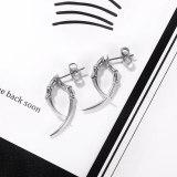 European Style Hip Hop Retro Horn Disco Stainless Steel Stud Earrings for Boyfriend Gb677