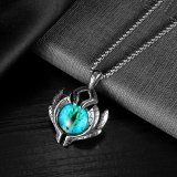 European and American Retro Hip Hop Devil's Eye Stainless Steel Men's Necklace Gb1926