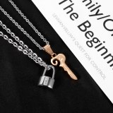 Titanium Steel Pendant Oath Lock Good-looking Personality Simple All-Match New Stainless Steel Necklace Gb1931