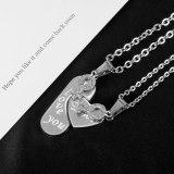 Japanese and Korean Trendy Titanium Steel Love Pendant Fashionable Light Luxury Stainless Steel New Couple Necklace Gb1936