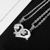 2021 New Love Stitching Pendant Niche Design Fashion Simple Couple Stainless Steel Necklace Gb1937