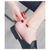 New Niche Design Fashion Trend Internet Celebrity Elegant Simple All-Match Women's Titanium Steel Anklet Gb124