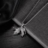 New Classic Maple Leaf Titanium Steel Pendant Retro Trendy Versatile Men's Stainless Steel Necklace Gb1939