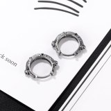 European-Style Retro Simple Circle Stainless Steel Stud Earrings Personalized All-Match Earrings for Boyfriend Gb671