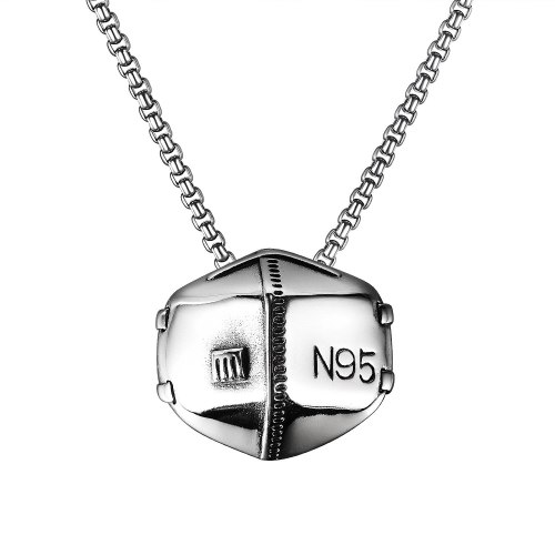 New Titanium Steel Mask Pendant Street Hip Hop Fashion Personality Classic Stainless Steel Necklace Gb1930