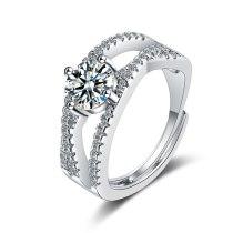 Foreign Trade Ring Female Zirconium Diamond Wide Surface Women's Ring Bracelet Xzjz383
