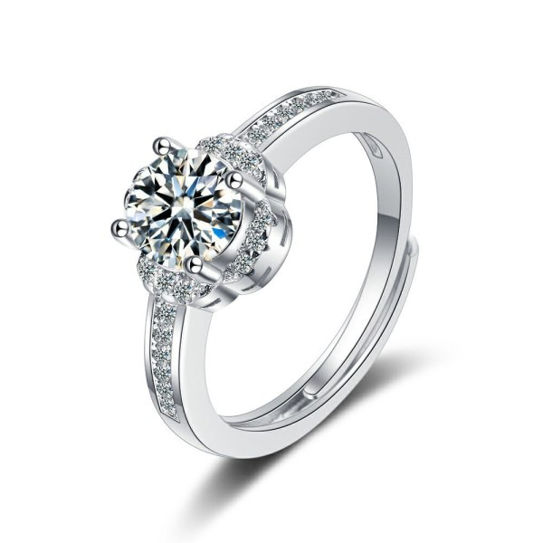 Flash Zirconium Diamond Ring Open Mouth Design Fashionable Temperament Ring Women's Ring Bracelet XzJZ379