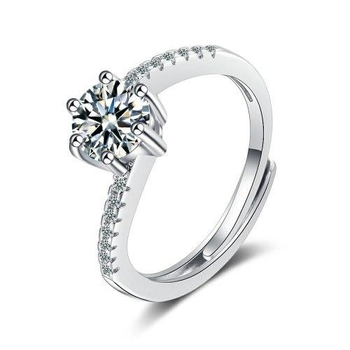 Foreign Trade Ring Female round Zirconium Diamond Wide Surface Women's Ring Bracelet Xzjz378