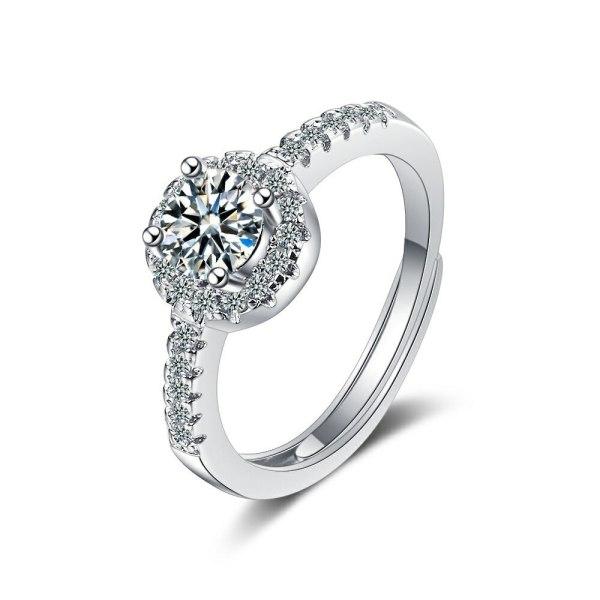 Foreign Trade Ring Female Square Zirconium Diamond Wide Surface Women's Ring Bracelet Xzjz375