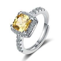 Foreign Trade Ring Female Square Zirconium Diamond Wide Surface Women's Ring Bracelet Xzjz388