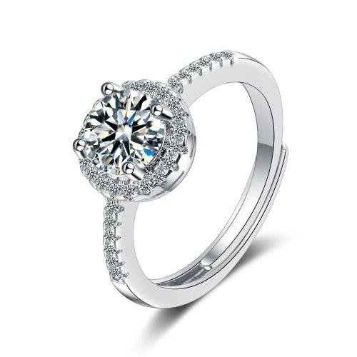 Flash Zirconium Diamond Ring Open Mouth Design Fashionable Temperament Ring Women's Ring Bracelet Xzjz381