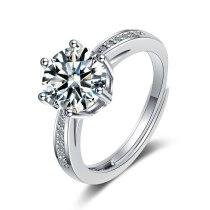 Foreign Trade Ring Female round Zirconium Diamond Wide Surface Women's Ring Bracelet Xzjz385